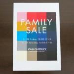 ジョンスメドレーのファミリーセール-2015秋の招待状