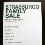 ストラスブルゴのファミリーセールの招待状