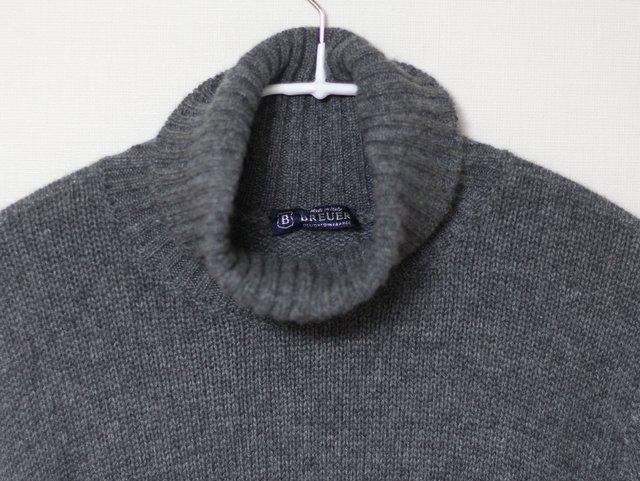 アオイカーニバルで60%オフで購入したBREUERのカシミヤセーター