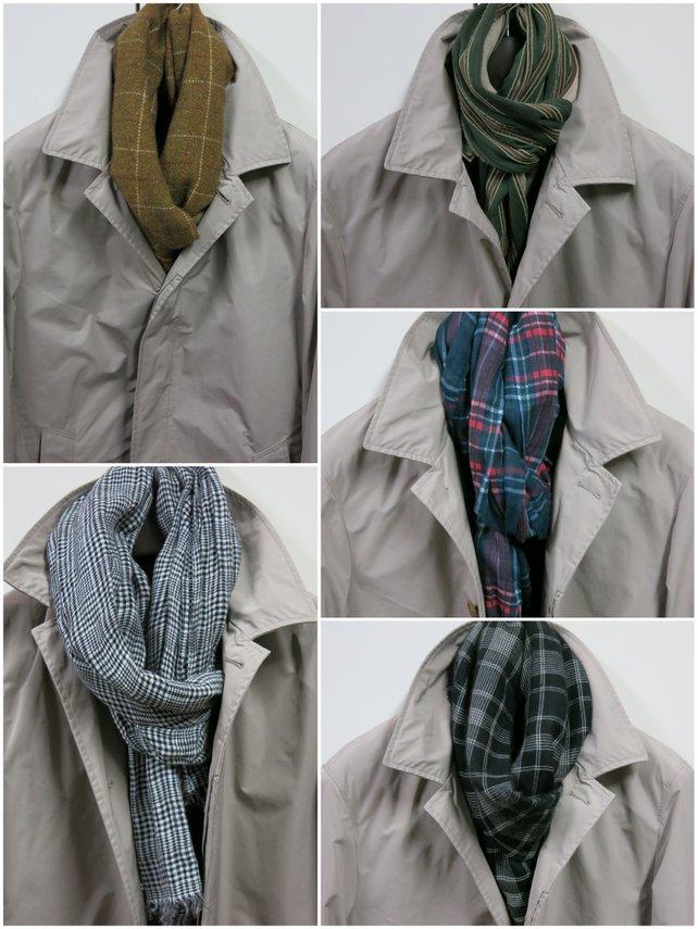 ベージュのコートに似合うマフラー&ストールは?