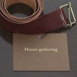 Honor gatheringのバケッタレザーの薄いベルト