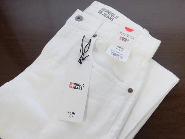 再びユニクロのホワイトジーンズを通販で買う