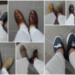 ホワイトデニムに似合う靴、似合わない靴