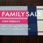 ジョンスメドレーのファミリーセール-2016秋冬