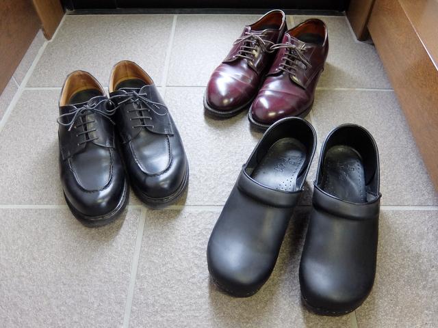 靴の入れ替えとメンテナンス