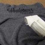 ふだん着のWoolpowerのフルジップニットのメンテナンス