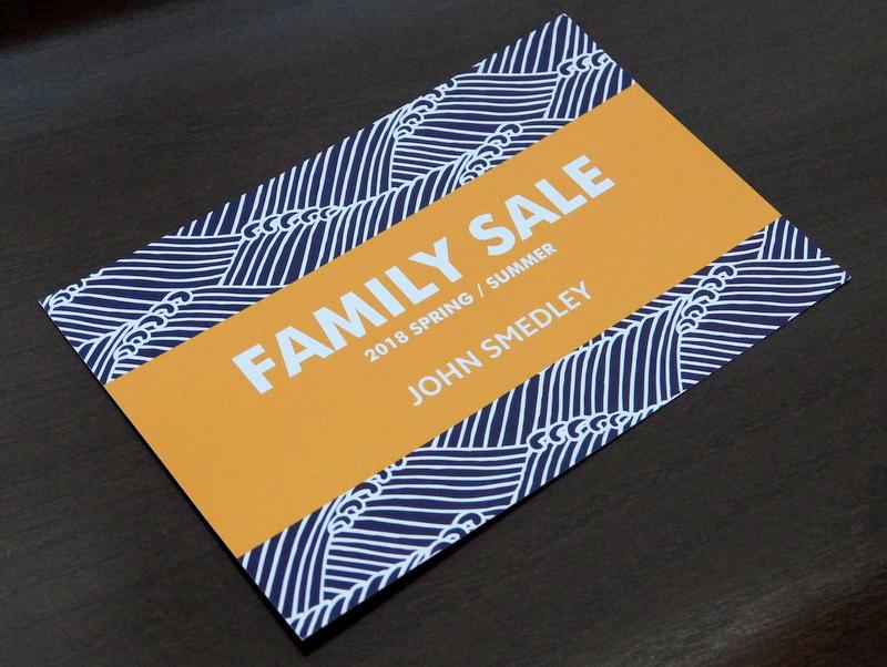 スメドレーのファミリーセールのお知らせ-2018年夏