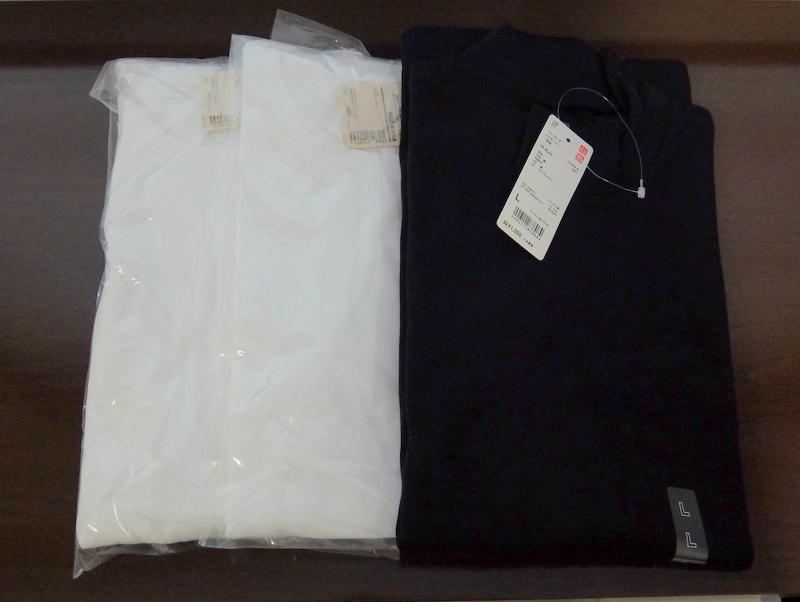 MUJIとユニクロの長袖Tシャツを購入