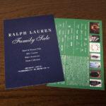 ラルフローレンのファミリーセール招待状-2019春